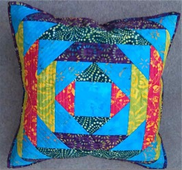 Pineapple Log Cabin Cushion By Sarah Wellfair